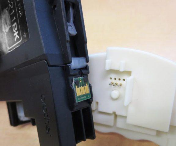 ブラザーの純正インクカートリッジLC211のインク残量をリセットする